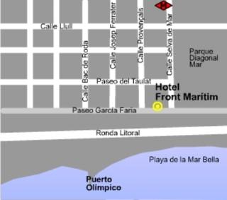 Hotel Front Maritim Landkarte