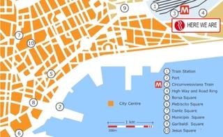 Hotel Ramada Naples - Neapel Landkarte