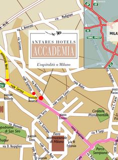 Hotel Antares Accademia Landkarte