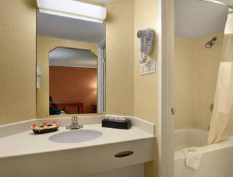 Days Inn Houston Badezimmer