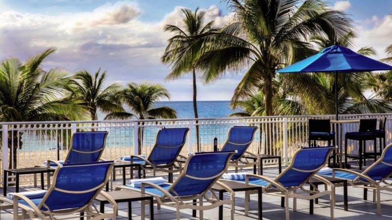 Courtyard Fort Lauderdale Beach Terrasse